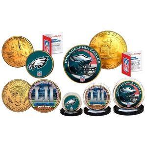 Super Bowl 52 NFL Champions EAGLES 3-Coin Set